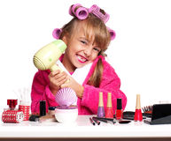 Makeup little girl Royalty Free Stock Photography