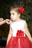Makeup little girl Royalty Free Stock Images