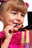 Makeup little girl Royalty Free Stock Photo