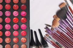 Makeup makeup narzędzia tworzyli dla kobiet które kochają przygotowywać klientów Obraz Stock