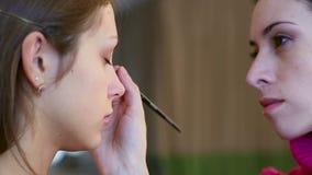Makeup stock footage