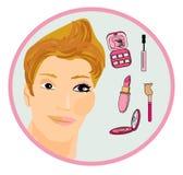 Makeup man like a woman Stock Photography