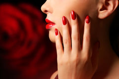 Makeup and manicure Royalty Free Stock Images