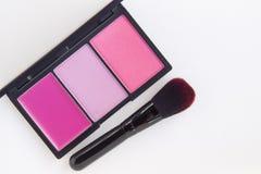 Makeup, menchii brzmienia blusher paleta Zdjęcie Royalty Free