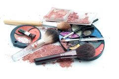 Makeup mess Stock Image