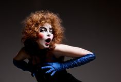 makeup mima theatrical kobieta pi?kny taniec para strza?u kobiety pracowniani young fotografia royalty free