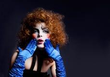 makeup mima theatrical kobieta pi?kny taniec para strza?u kobiety pracowniani young fotografia stock