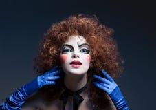 makeup mima theatrical kobieta pi?kny taniec para strza?u kobiety pracowniani young zdjęcie royalty free