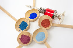 Makeup with mineral powder Royalty Free Stock Images