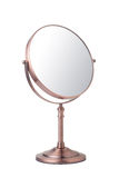 Makeup mirror. Vintage makeup mirror isolated on white background Royalty Free Stock Image
