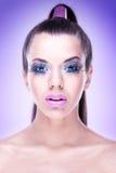 Makeup  Model with extreme makeup Stock Photo