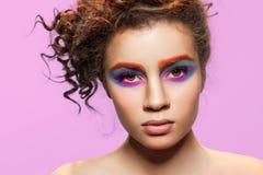Makeup model face. Royalty Free Stock Image