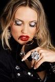 Makeup model face portrait Stock Image