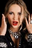 Makeup model face portrait Royalty Free Stock Images