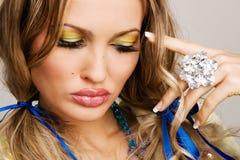 Makeup Model Face Portrait Stock Photos
