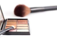 Makeup muśnięcie i ziemi brzmienia eyeshadow Fotografia Stock