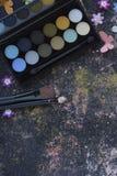 Makeup na blackboard tle Fotografia Stock