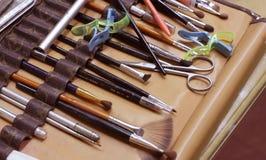makeup narzędzia Obrazy Stock