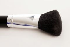 Makeup natural brush with beige powder Royalty Free Stock Photos