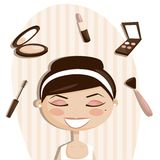 Makeup objects vector illustration