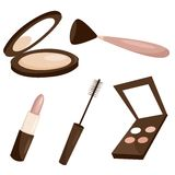 Makeup objects. Isolated ,  illustration Stock Images