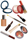 Makeup objects Royalty Free Stock Photo