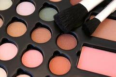 Makeup och borstar Royaltyfri Fotografi