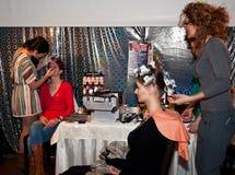 Makeup- och frisyrrum Fotografering för Bildbyråer