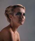 Makeup och mode royaltyfri fotografi