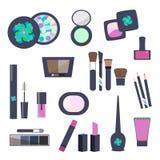 Makeup och skönhetsmedel sänker symboler vektor illustrationer