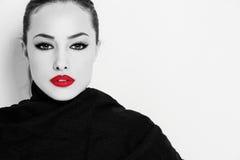 Makeup och stil arkivbild