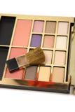 Makeup paleta z makeup Obrazy Royalty Free