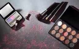 Makeup paleta z makeup muśnięciem Fotografia Royalty Free