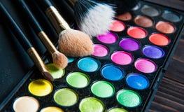 Makeup paleta z makeup muśnięciem Obraz Royalty Free