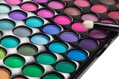 Makeup paleta z makeup muśnięciem Zdjęcie Stock
