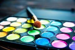 Makeup paleta z muśnięciem Zdjęcie Stock
