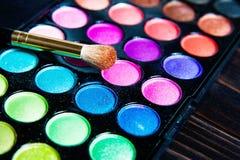 Makeup paleta z muśnięciem Zdjęcia Royalty Free