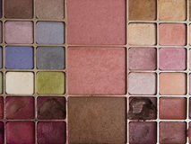 Makeup Palette. A makeup palette with different colors Royalty Free Stock Photography