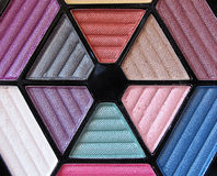 Makeup Palette 3. A makeup case of multi-colored eyeshadow powder Stock Photos