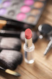 Makeup palette and brushes Royalty Free Stock Photography