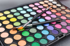 Makeup palette of colors Royalty Free Stock Image