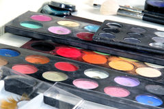 Makeup palette. Cosmetic background. Stock Photography