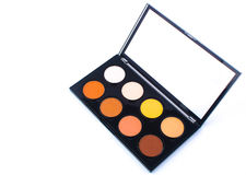 Makeup Palette and tools on a white background Royalty Free Stock Image