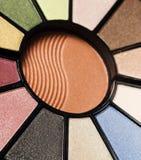 Makeup pallet. A circular makeup pallet Royalty Free Stock Photos