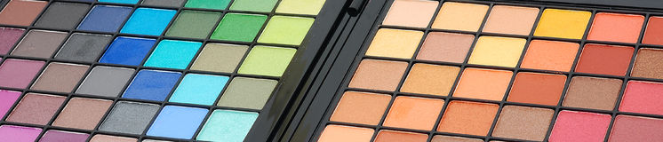 Makeup pallete Stock Image