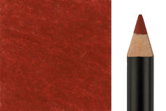 Makeup pencil with sample stroke Stock Images