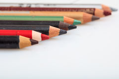Makeup pencils set isolated on white background Stock Image