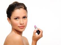 Makeup piękna portret Fotografia Royalty Free