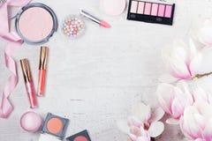 Makeup piękna produkty Obrazy Stock