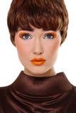 makeup pomarańcze Obrazy Royalty Free
